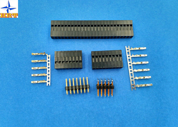 Dual Row Wire To Board Connector 2.54mm Pitch Crimp Connectors With ...